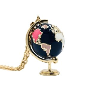 Kate Spade Going Places Globe Necklace